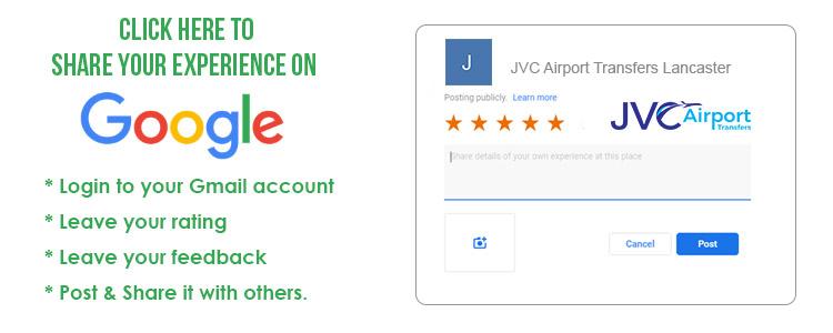Google Reviews. JVC Airport Transfers Lancaster